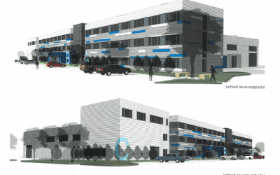Přípravy stavby nové multifunkční budovy C3T pro kosmické technologie jdou do finále